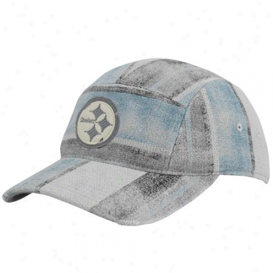 Pitt Steeler Cap : Reebok Pitt Steeler Multi-color Distressed Patchwork Adjustable Way Slouch Cap