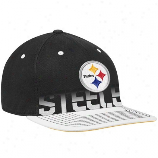 Pitt Steeler Hat : Reebok Pitt Steeler Black Pro Shape Performer Sideline Flex Hat