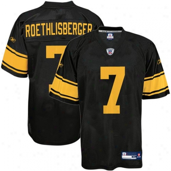 Pitt Steeler Jerseys : Reebok Nfl Equipment Pitt Steeler #7 Ben Roethlisberger Black Alternate Replica Football Jerseys