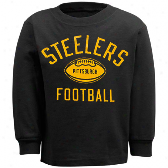 Pitt Steeler Shirts : Reebok Pitt Steeler Toddler Black Workout Long Sleeve Shirts