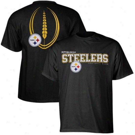 Pitt Steeler T Shirt : Reebok Piitt Steeler Black Ballistic T Shirt