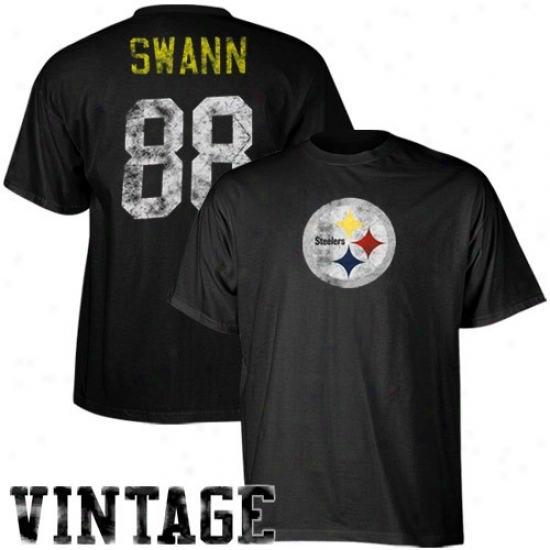 Pitt Steeler Tshirts : Reebok Pitt Steeler #88 Lynn Swann Retired eLgends Name & Number Tshirts