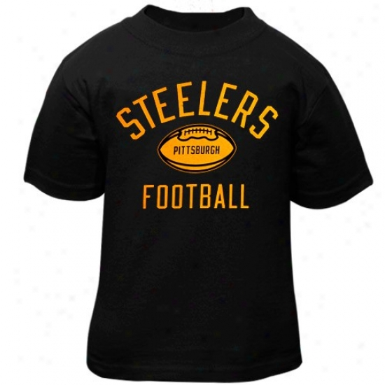 Pitt Steelers Apparel: Reebok Pitt Steelers Toddler Black Workout T-shirt