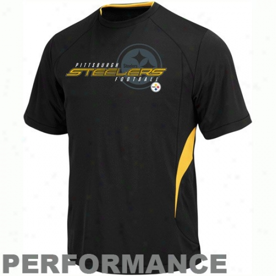 Pitt Steelers Attire: Pitt Steelers Black Fan Fare Iii Performance T-shirt