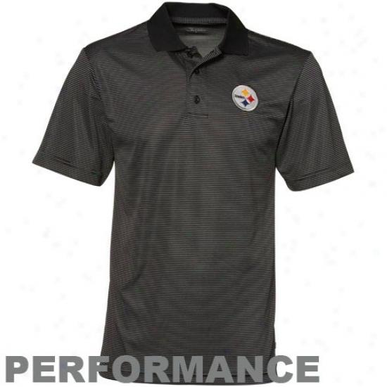 Pitt Steeelers Clothing: Pitt Steelers Dismal Interlock Performance Polo