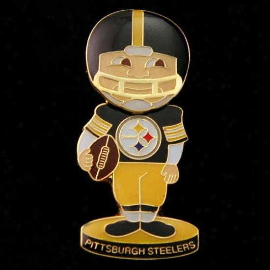 Pitt Steelers Gear: Pitt Steelers Bobble Head Football Player Pin