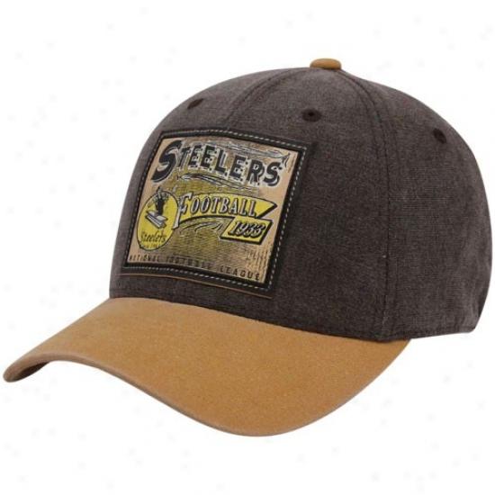 Pitt Steelers Hat : Reebok Pitt Steelers Brown Pro Shape Flex Hat
