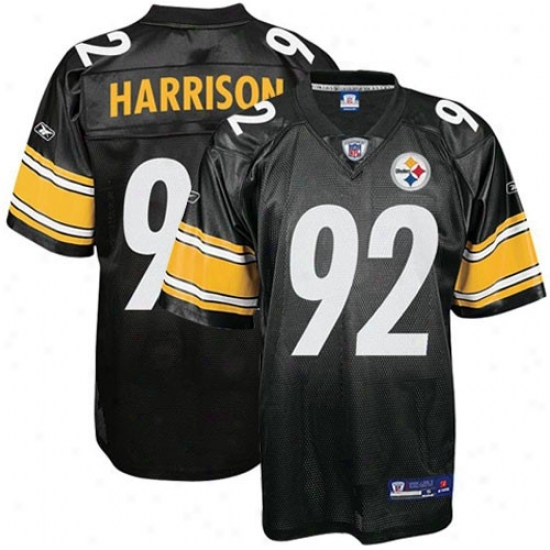 Pitt Steelers Jersey : Reebok Nfl Equipmen tPitt Steelers #92 James Harrison Youth Black Replica Football Jersey