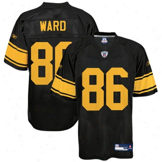 Pitt Steelers Jerseys : Reebok Pitt Stteelers #86 Hines Ward Black Alternate Replica Football Jerseys