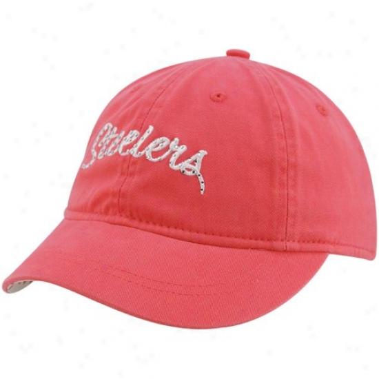Pittsburgh Steeler Caps : Reebok Pittsburgh Steeler Ladies Pink Charlie Slouch Adjustable Caps