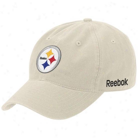 Pittsburgh Steeler Hat : Reebok Pittsburgh Steeler Stone Basic Logo Flex Slouch Hat