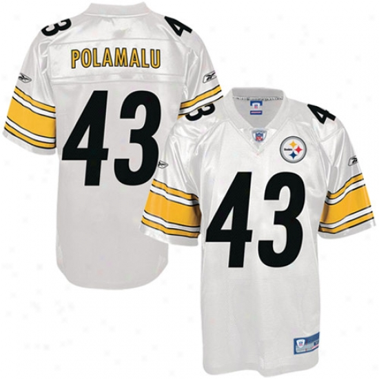 Pittsburgh Steeler Jerseys : Reebok Nfl Accoutrement Pittsburgh Steeler #43 Troy Polamalu White Replica Football Jerseys
