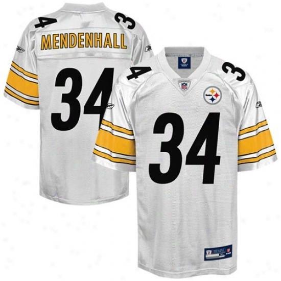 Pittsburgh Steeler Jerseys : Reebok Rashard Mendenhall Pitstburgh Steeler Replica Jerseys - White
