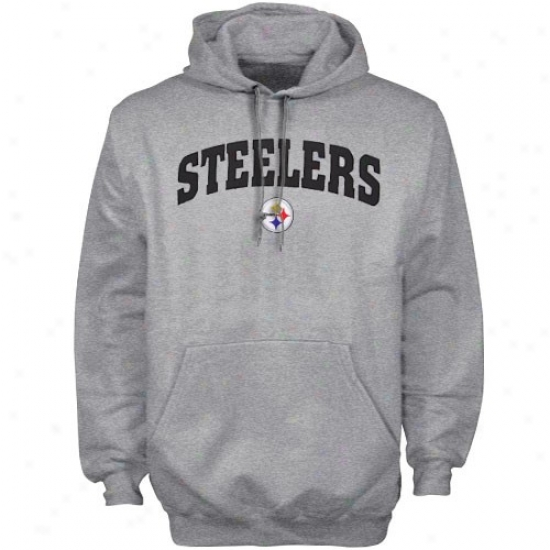 Pittsburgh Steeler Sweat Shirts : Pittsburgh Steeler Ash Classic Sweat Shirts Iii Pullover Exude Shirts