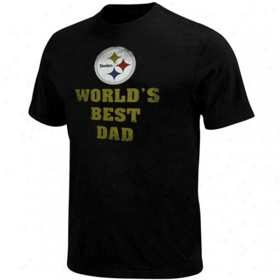 Pittsburgh Steeler T-shirt : Pittsburgh Steeler Black World's Best Dad T-shirt