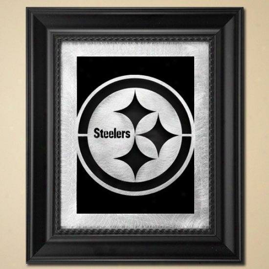 Pittsburgh Steelers 11'' X 13'' Framed Laser Edge Metal Artwork