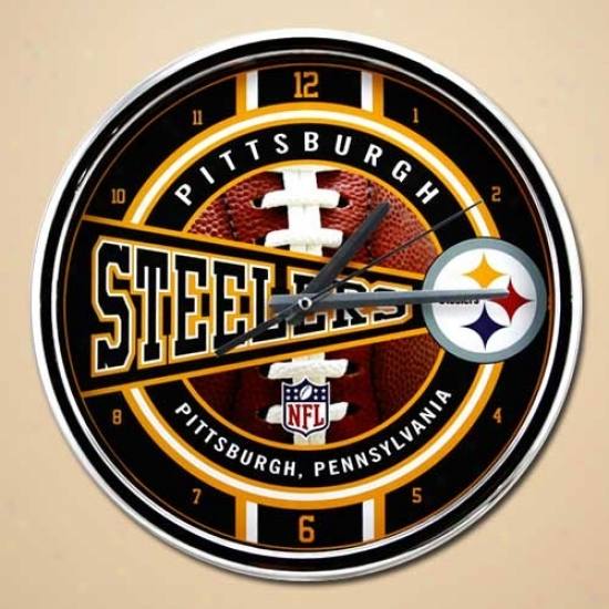 Piytsburgh Steelers 12''' Chrome Clock