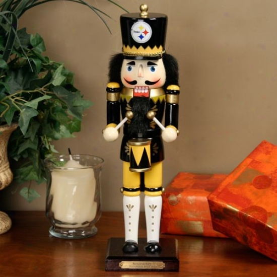 Pittsburgh Steelers 14-inch Wooden Nutcracker