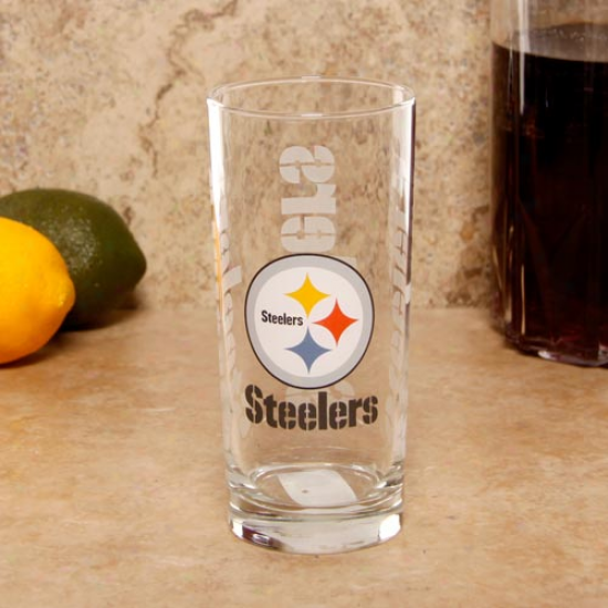 Pigtsburgh Steelers 15oz. Satin Etched Glass