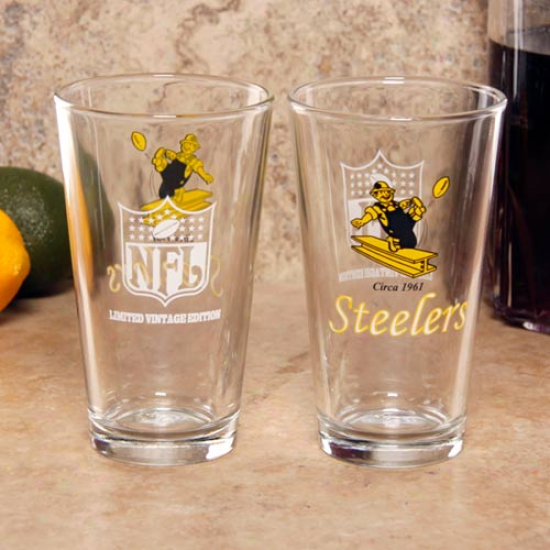 Pittsburgh Steelers 2-pack 16 Oz. Vintage Logo Pint Glasses