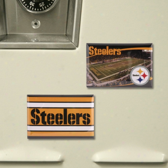 Pittsbuurgh Steelers 2 Pack Magnets