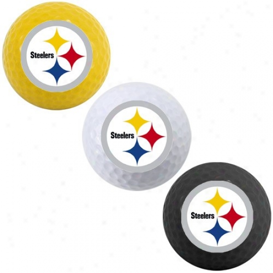 Pittsburgh Steelers 3-pack Team Color Golf Balls