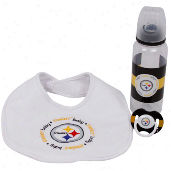 Pittsburgh Steelers 3-piece Baby Gift Set