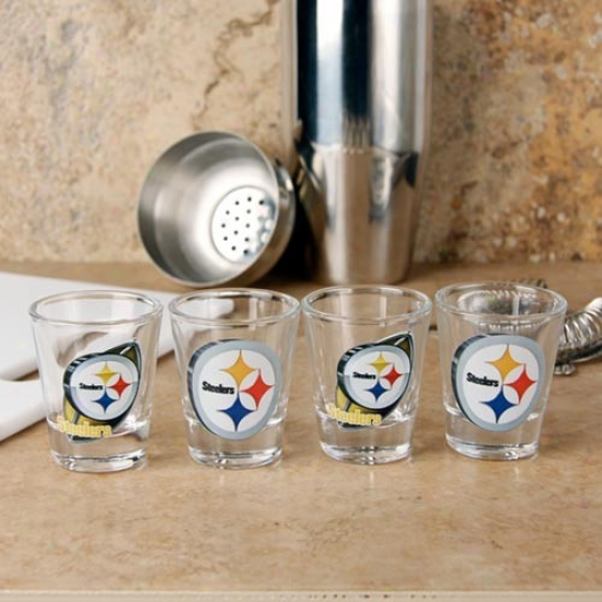 Pittsburgh Steelers 4-pack Enhanced Hi-def Design Shot Glass Set