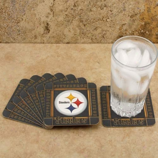 Pittsburgh Steelers 8-pack Absorbent Paperkraft Coasters
