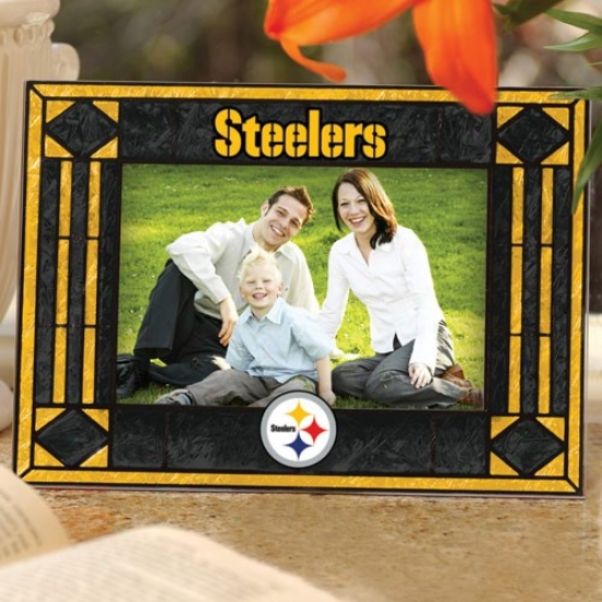 Pittsburgh Steelers Art-glass Level Pcture Frame