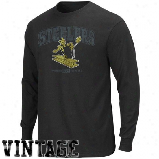 Pittsburgh Steelers Dress: Pittsburgh Steelers Black Legacy Critical Victory Iv Long Sleeve T-shirt
