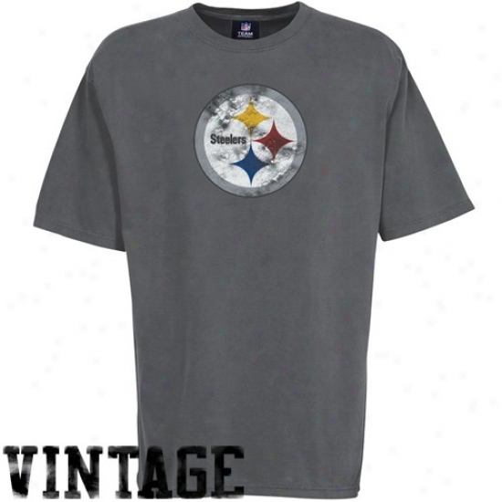 Pittsburgh Steelers Attire: Pittsburgh Steelers Heather Gray First Rounder Vintage T-shirt