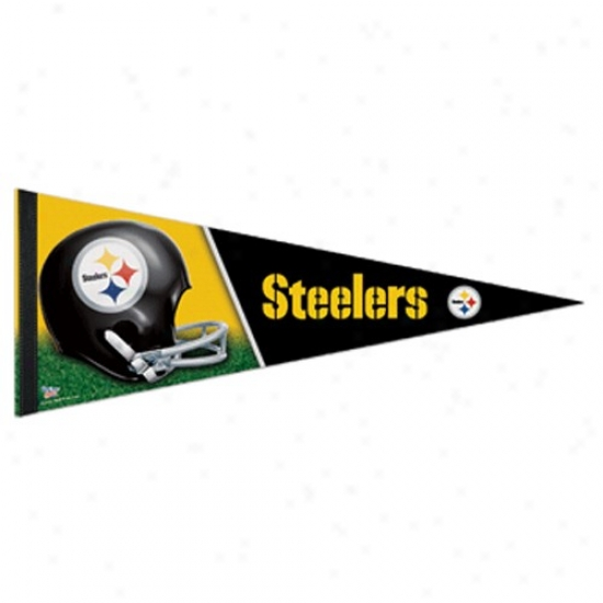 Pittsburgh Steelers Black 12'' X 30'' Premium Felt Pennant