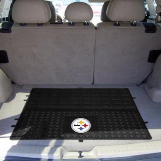 Pittsburgh Steelers Black 31'' X 31'' Cargo Mat Car Mat