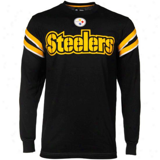 Pittsburgh Steelers Black End Of The Line Ii Long Sleeve T-shirt