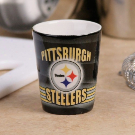 Pittsburgh Steelers Mourning End Zone Ceramic Shot Glass