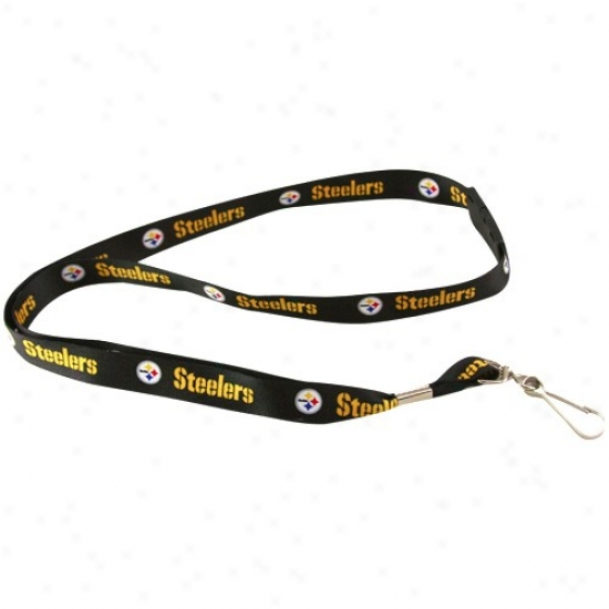 Pittsburgh Steelers Black Event Lanyard