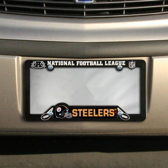 Pittsburgh Steelers Blacm Plastic License Plate Fabricate