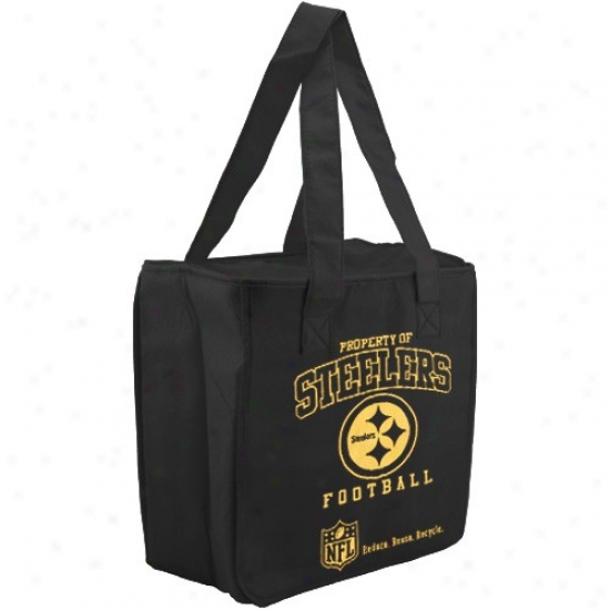 Pittsburgh Steelers Black Reusable Insulated Tote Bag