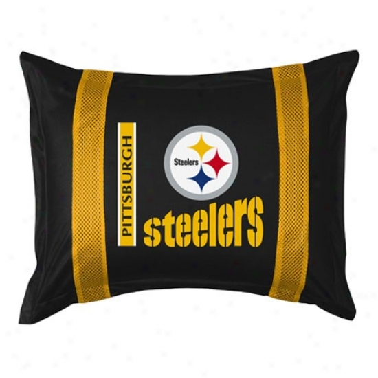 Pittsburgh Steelers Black Sideline Pillow Sham