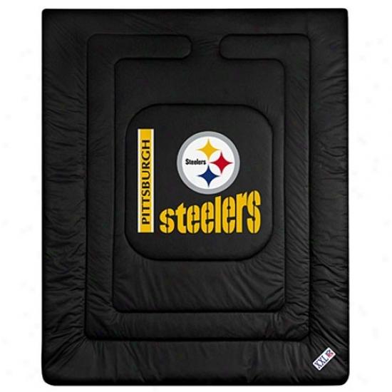 Pittsburgh Steelers Black Twin Size Locker Space Comforter
