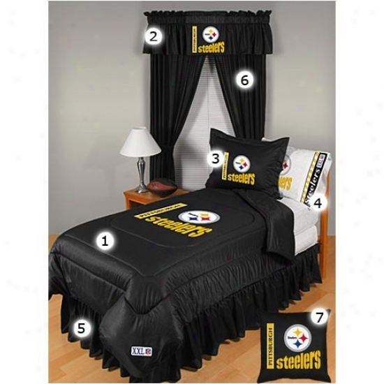 Pittsburgh Steelers Black Twin Size Locker Place Bedroom Flow