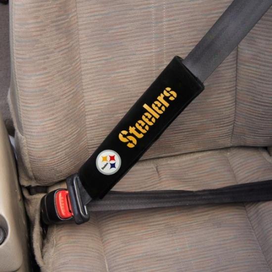 Pittsburgh Steelers Black Velour 2-pack Shoulder Pads