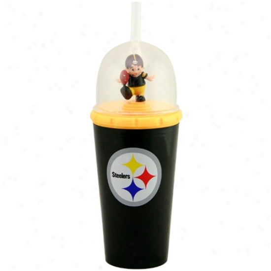 Pittsburgh Steelers Black Wind-up Mascot Cup
