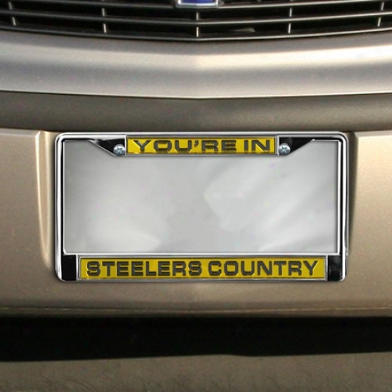 Pittsburgh Steelers Country Laser Chrome License Plate Frame
