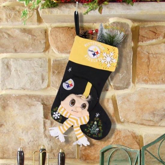 Pittsburgh Steelers Fiber Optic Mascot Stocking
