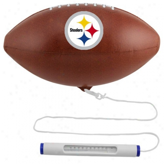 Pittsburgh Steelers Floating Football Pool Thermometer