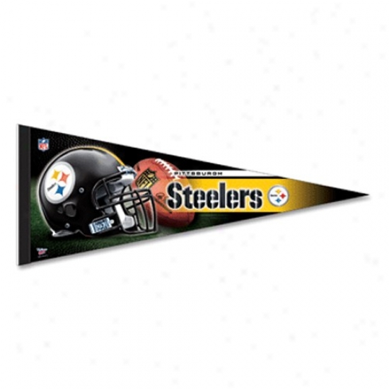 Pittsburgh Steelers Gold 12'' X 30'' Premium Felt Pennant