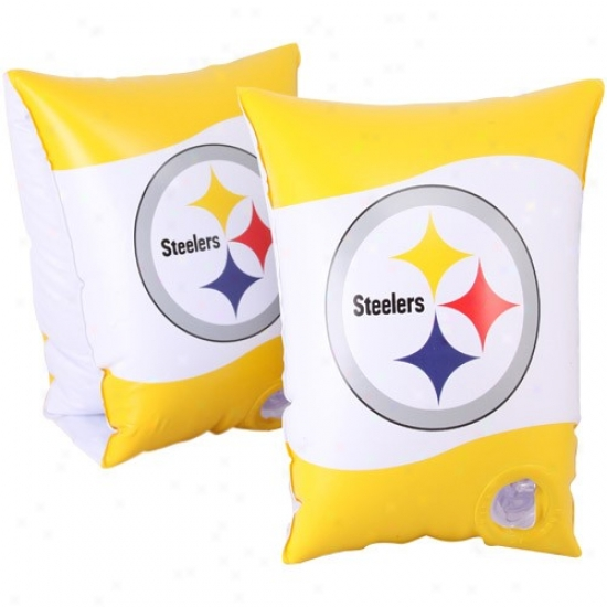 Pittsburgh Steelers Gold-white Swimmies Inflatable Water Wings
