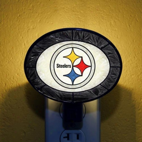 Pittsburgh Steelers Hand-painted Glass Nightlight